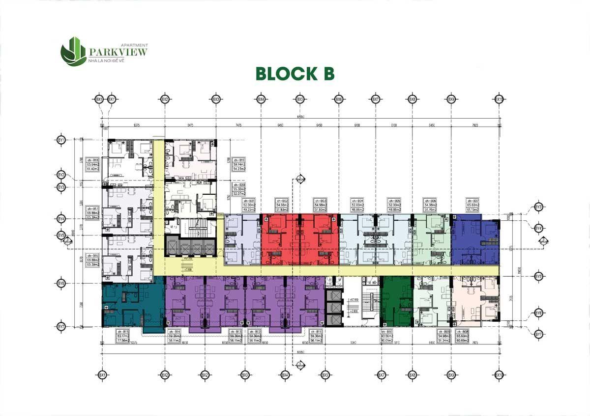 Mat Bang Block B Du An Parkview Apartment