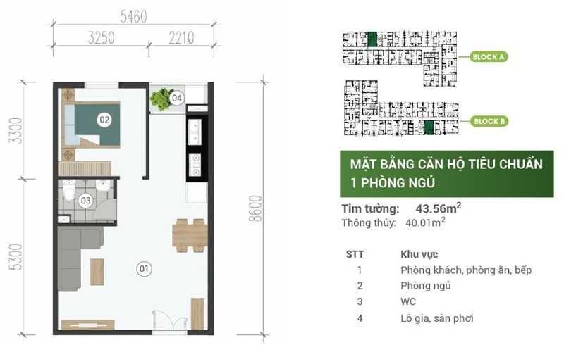 Mat Bang Can Ho Park View Binh Duong 1pn