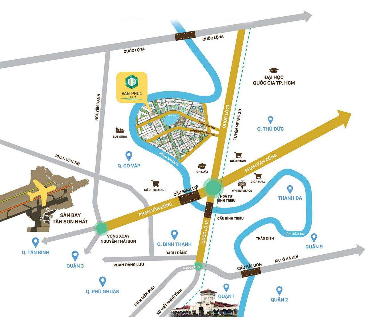 Vi Tri Du An Can Ho Khu Do Thi Van Phuc City Thu Duc 1 Nha Dat Dau Tu 24