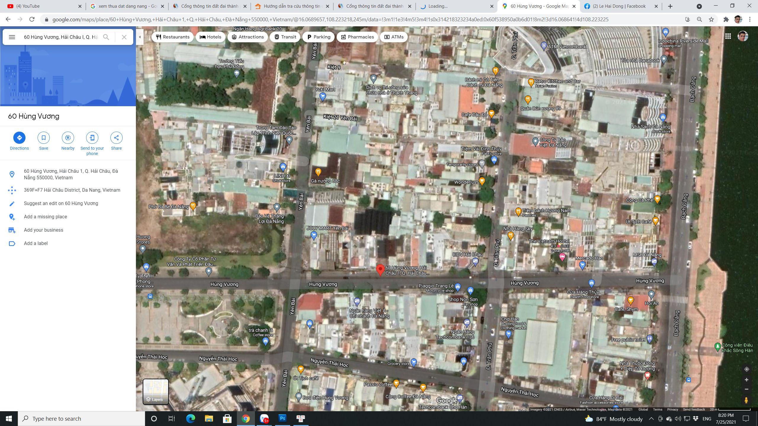 Đà Nẵng | Chủ ngộp ký gửi bán đất mặt tiền đường Hùng Vương, Phường Hải Châu 1, Quận Hải Châu